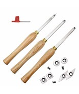 YUFUTOL Carbide Woodturning Tool Mini Size (3 Piece Set) Includes Diamon... - $79.99