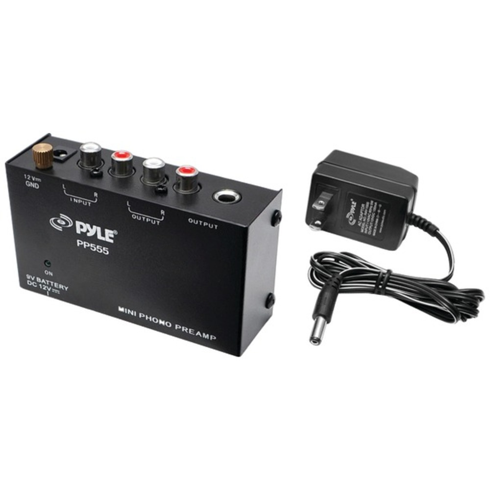 Pyle Pro PP555 Ultra-Compact Phono Turntable Preamp