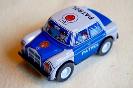 """VINTAGE Tin Toy Made in Japan New Sanko Friction 3"""" Benz Mercedes Patrol... - $12.82"""