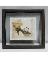 "ISABELLE DE BORCHGRAVE FRENCH SHOES ""SHOE WITH HEART"" FRAMED 10 1/2"" X 11""  - $14.69"