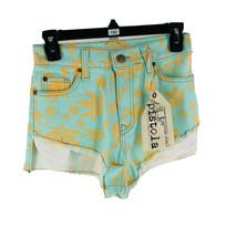 "Pistola Women's Aqua Blue High Life Cut-Off Shorts Size Small Inseam 2"" NEW - $29.70"
