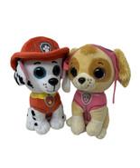"TY Beanie Boos 6"" Paw Patrol MARSHALL & SKYE Plush Stuffed Animal Toy Dogs  - $15.99"