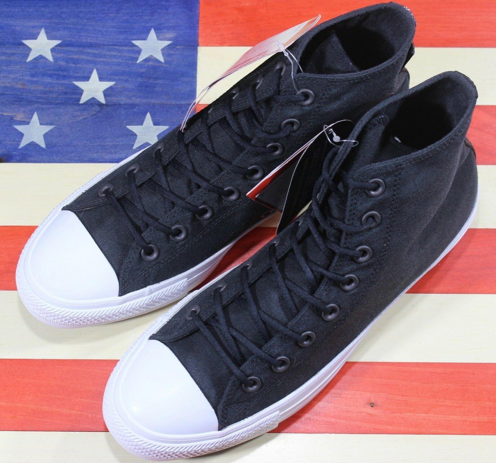 CONVERSE SAMPLE Chuck Taylor ALL-STAR HI Cordura Black White Shoe [157516C] sz 9 image 9