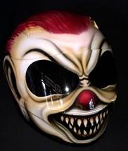 New Custom Airbrush Helmet Clown Laugh Red Hair (Dot & Ece Certified) - $250.00