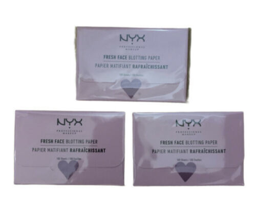 3 x nyx fresh face blotting paper 100 sheets new sealed