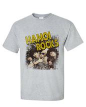 Hanoi Rocks T Shirt retro 1980s heavy metal vintage glam rock gray graphic tee image 2