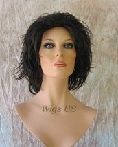 Shiva 2 Darkest Brown Medium Wig Wild Layers Wet Look Halloween Cosplay ... - $26.55