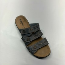 Collection by Clarks Sandals Women's Size 8 M Blue Soft Cushion 3-Strap ... - $25.81