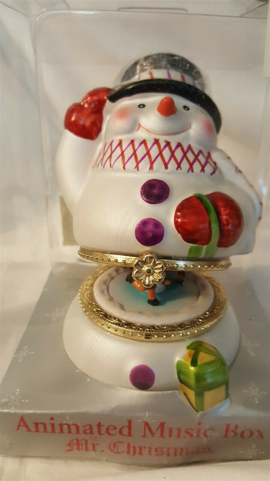 Mr Christmas 2006 Animated Snowman Music Box Deck The Halls NIB - $15.00