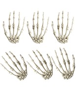 Skeleton Hands Halloween Decoration 3Pairs Plastic Arm Finger Scary Horr... - $23.98