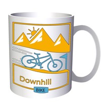 Bicycle Downhill Bike 11oz Mug r508 - $10.83