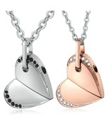 """Aienid Necklaces for Couple Stainless Steel """"Heart Move for You"""" Rotatab... - $33.17"""