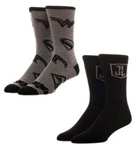 Justice League 2 Pack Crew Socks - $15.00