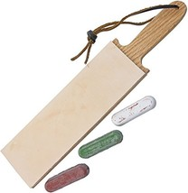 Leather Paddle Strop Double Sided 2.5 Inch Wide and 3 Compounds