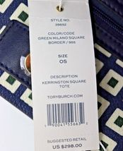 NWT Tory Burch Kerrington Square Tote Green Milano Shoulder Bag New  $298 image 8