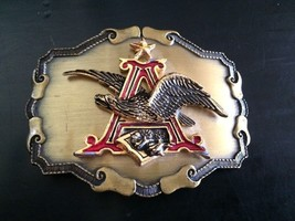 Vintage 1978 ANHEUSER BUSCH BEER BREWING CO. Raintree BELT BUCKLE Eagle ... - $34.60