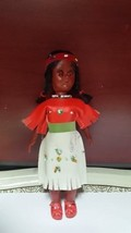 "Vintage hand made Ancient Native Indian American doll leather dress 7.5""... - $4.99"