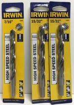 """(New) Irwin High Speed Steel 7/16"""",  15/32"""" Drill Bit Set - $18.80"""