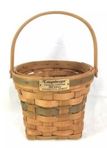 Longaberger Christmas Collection Poinsettia Basket Green Weave 1988 - $9.79