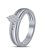 Charming Jewelry Accessories Ladies White Cz Silver Plated Lovely Ring - $4.96