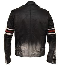 Mens House MD Dr Gregory House Black Biker Leather Jacket image 3