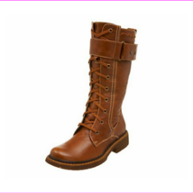 Wanted Shoes Women's Queen Lace Up Boot ,Tan, Size 6M US - $72.60