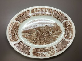 Bald Eagle Platter Alfred Meakin Fairwinds E Pluribus Unum Brown Ships P... - $28.95