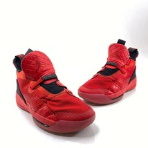 Nike Air Jordan XXXIII 33 Youth Size 7Y Red Hi Top Basketball Shoes AQ92... - $64.31