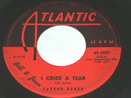 45 RPM Lavern Baker I Cried A Rasgar, Dix-a-Billy Atlantic Vinilo Record... - $8.89