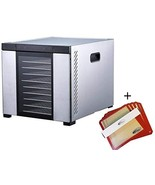 "Samson""Silent"" 10 Tray Stainless Steel Dehydrator - Digital Controls - G... - $294.99"