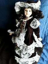 Unique 1-5000 porcelain doll victorian  17 inches - $16.82