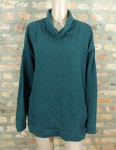 Ann Taylor Lou & Grey Forest Green Speckled French Terry Cowl Sweatshirt Sweater - $7.70