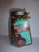 Pelican Bay Make Your Own Chocolate Fudge Truffles in Ball Glass Mason J... - $18.80