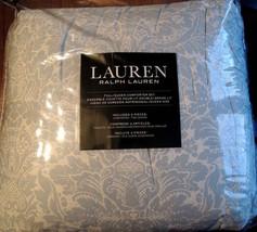 RALPH LAUREN Queen Comforter Set 4PC WHITE BABY  BLUE  FLORAL BEAUTIFUL ... - $138.55