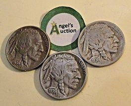 Buffalo Nickel 1936 P, 1936 D and 1936 S  AA20BN-CN6094 image 8