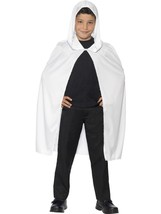 Hooded Cape, White, One Size - $9.38