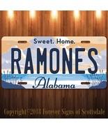 Ramones Punk Rock Band Alabama Aluminum Vanity License Plate - $12.82