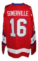 Custom Name # Rochester Americans Retro Hockey Jersey Red Somerville 16 Any Size image 2