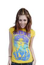Famous Stars & Straps Womens Juniors Yellow Maria Callas T-Shirt image 2