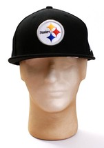 New Era 59Fifty NFL Pittsburgh Steelers Black On Field Fitted Hat Cap Ad.. eb2110452301