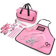 Good WORKPRO Children's Real Tool Kit with Storage Bag 23-Piece Pink - $46.69