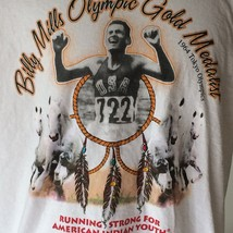 Billy Mills American Indian Olympic Gold Medalist 1964 Tokyo T Shirt Adult Large - $23.36