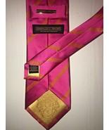 Donald Trump Pink Orange Men's Neck Tie 100% Silk Stripe Signature Colle... - $51.61