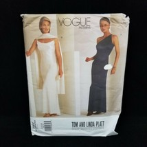 Vogue 2042 Size 12-16 Slip Evening Dress & Scarf by Tom Linda Platt Sew Pattern - $32.68