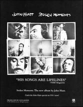 John Hiatt 1990 Stolen Moments original advertisement 8 x 11 ad print - $3.95