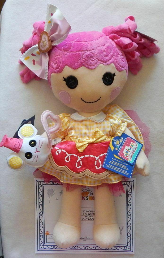 NEW Build A Bear Lalaloopsy Crumbs Sugar Cookie Doll, Dress, Hair Bow, Mouse NWT - $129.99