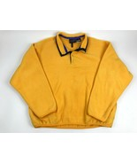 LAYERS Solid Yellow Plush Fleece Pullover Large Polartec 1/4 T Snap Jacket - $29.70