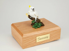 Cockatoo Parrot Figurine Bird Pet Cremation Urn Avail in 3 Diff Colors &... - $169.99+