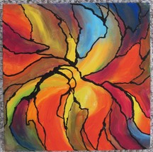 """Akimova: FALL, abstract, acrylic, 10""""x10"""" - $25.00"""