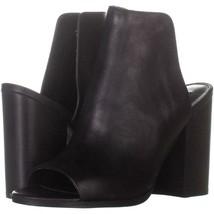 Steve Madden Tilt Slip On Sandals 508, Black Leather, 8.5 US - $34.55